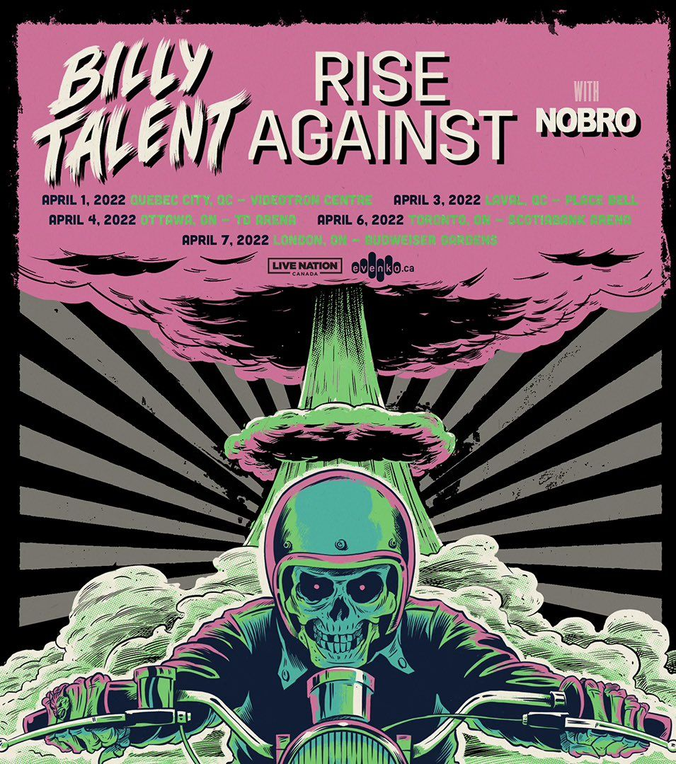 billy talent rise against quebec laval 2022