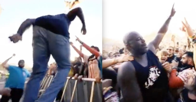 shaquille oneal stage dive